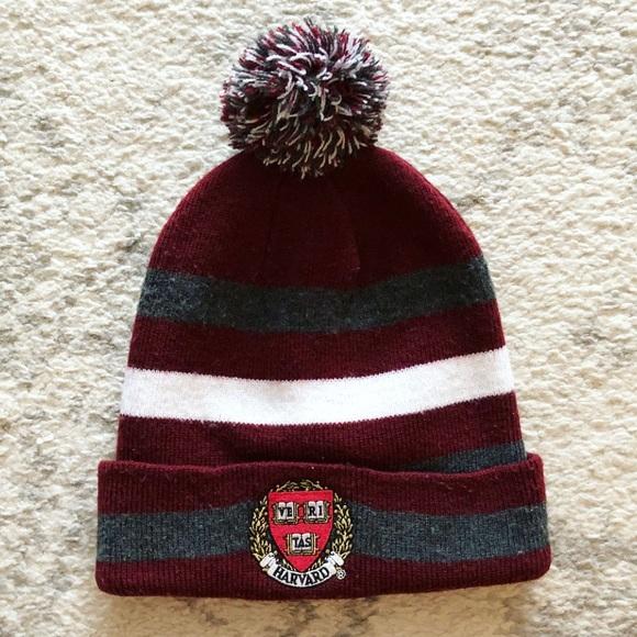 95c3e00ebfe Harvard University Accessories - Crimson   white striped Harvard knit  beanie hat